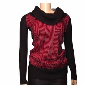 Candie's cowl neck Sweater Red & Black